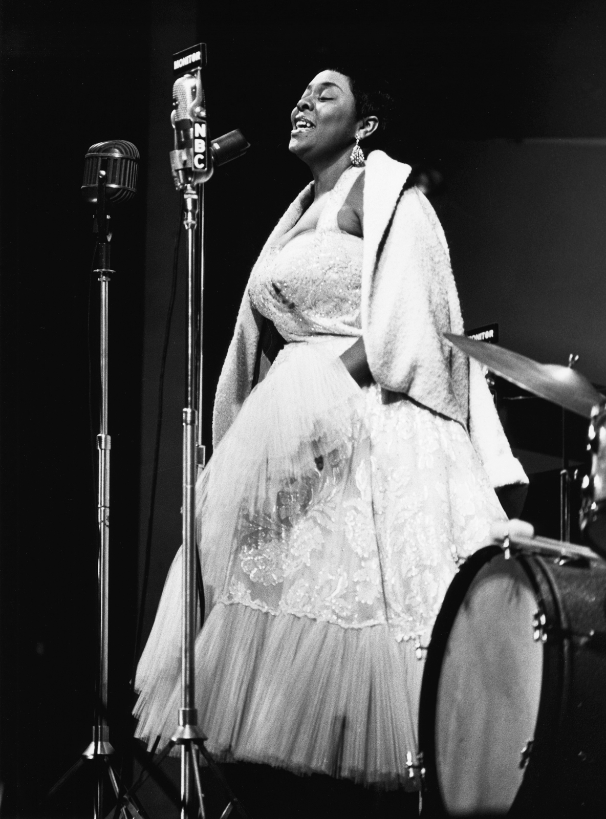 Herman Leonard: Dinah Washington, Newport, 1955