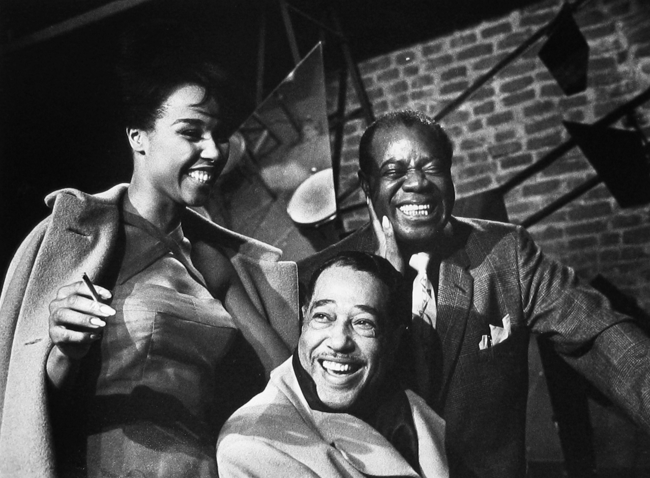 Herman Leonard: Duke Ellington, Louis Armstrong, Diahann Carroll, Paris, 1960